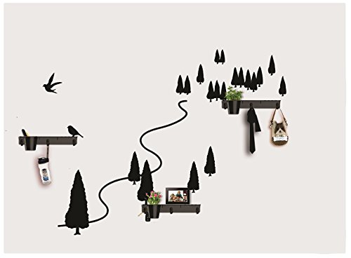 Dream Wall Wall Decal with In-Built Shelves, Autumn Forest