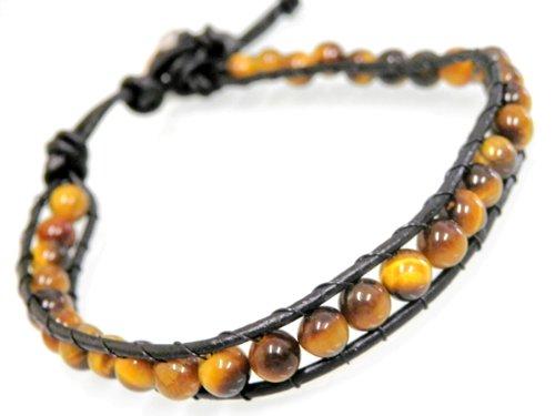 パワーストーン leather bracelet (8)