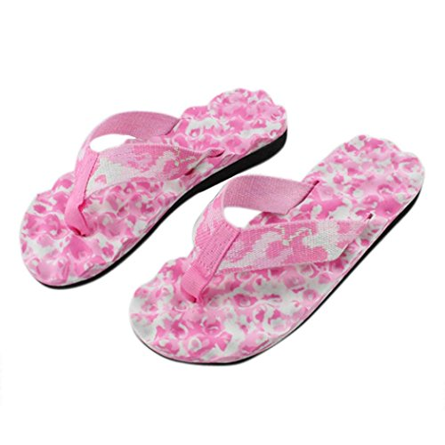Tenworld Women Sandals Clip Toe Beach Shoes Outdoor Flip Flop (6.5, Pink) (Display Cases With Curve Glass compare prices)