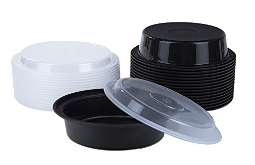 round plastic meal preparation container food saver with clear lid new ebay. Black Bedroom Furniture Sets. Home Design Ideas