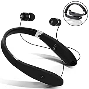 bluetooth headset wireless bluetooth stereo headphones neckband foldable sweatproof. Black Bedroom Furniture Sets. Home Design Ideas