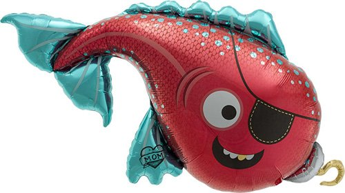 Pirate Fish Helium Foil Balloon - 43 inch