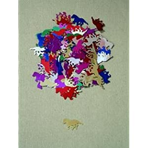 KY DERBY PARTY HORSE & JOCKEY CONFETTI MULTI COLORED