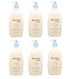 Aveeno Baby Daily Moisture Lotion, 18 Ounce (Pack of 6)