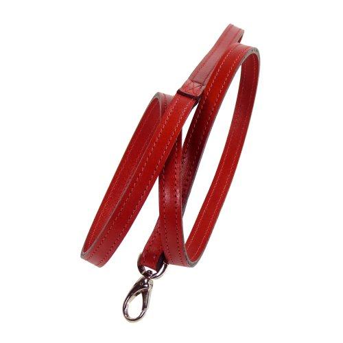 hartman-rose-barclay-dog-lead-3-4-inch-ferrari-red