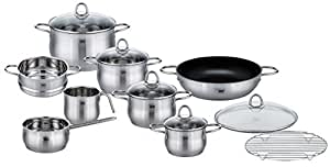 ELO Platin Stainless Steel 15-Piece Cookware Set