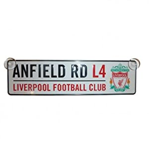 Official Liverpool F.C. 3D Hanging (Window) Sign - ANFIELD RD from Storm International