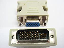 DVI-I Male 24+5pin to 15 pin VGA Female Adapter for Dual Monitor Display