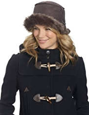 M&S Collection Faux Fur Brim Hat