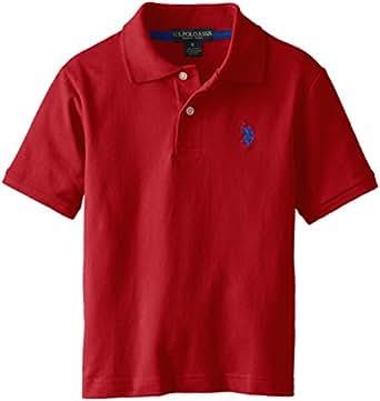 U.S. Polo Assn. Big Boys' Short Sleeve Pique Polo, Apple Cinnamon, 8
