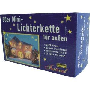 Idena 8582076 – Minilichterkette 80er klar für Außen