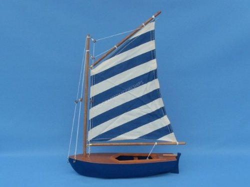 Blue Striped Sailboat 15