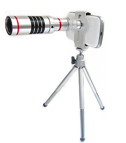 Lesung®18X Super Magnifier Zoom Aluminum Universal Manual Focus Telephoto Telesocpe Phone Camera Lens Kit With Tripod For Iphone 4 4S 5 5S 5C Itouch Samsung Galaxy S3/I9300/S4/I9500/S5/Note 1/2/3