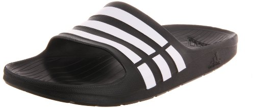 Adidas Duramo Slide Sandal,Black/White/Black,9 M Us Women'S/7 M Us Men'S front-833947