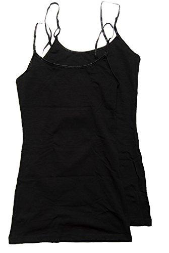 2 Pack Active Basic Women's Basic Tank Top Large Black, Black