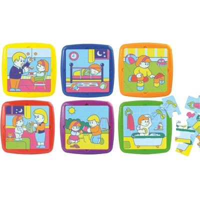 Miniland Baby'S Day Plastic Puzzles, Set Of 6 front-312964