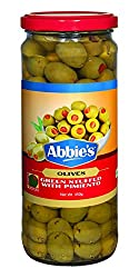 Abbie's Green Olive, Stuffed with Pimiento, 450g