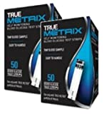 True Metrix Blood Glucose Test Strips Box of 50x2