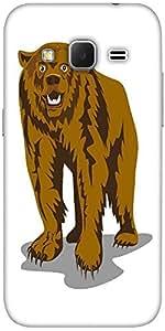 Snoogg Brown Bear Designer Protective Back Case Cover For Samsung Galaxy Gran...