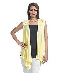 Teemoods Womens Viscose Shrugs -Yellow -Small