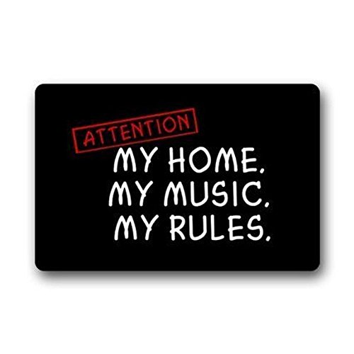 Old Tin Sign Concert Posters Attention My Home My Music My Rules Cover Metal Poster