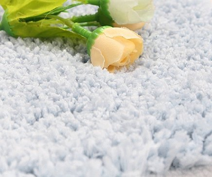 Sytian® 45*120cm Decorative Super Soft Floral Design Rural Style Beautiful Rose Pattern Non Slip Absorbent Shaggy Area Rug Bedroom Livingroom Carpet Doormat Floormat Bath Mat Bathroom Shower Rug (Pretty Blue)