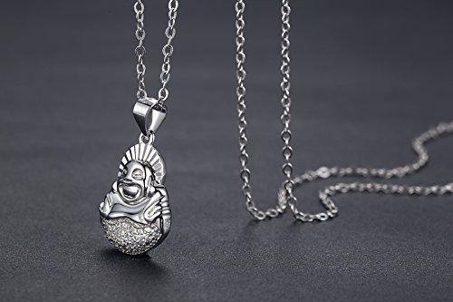 aoiy collier avec pendentif femme argent sterling bouddha cha ne 45cm zap062yi. Black Bedroom Furniture Sets. Home Design Ideas