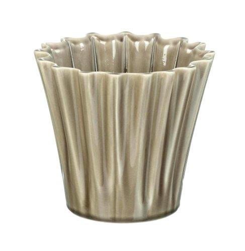 Ceramic Warm Grey Compton Planter / Plant Pot H140 x 150mm