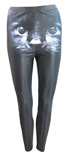 Iron Fist donna gattini Pantaloni Casual in poliestere, colore: nero nero Large
