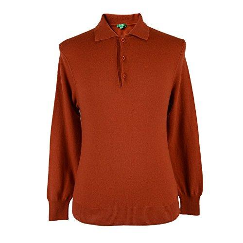 benetton-mens-orange-wool-long-sleeve-polo-style-sweater-us-s-eu-48