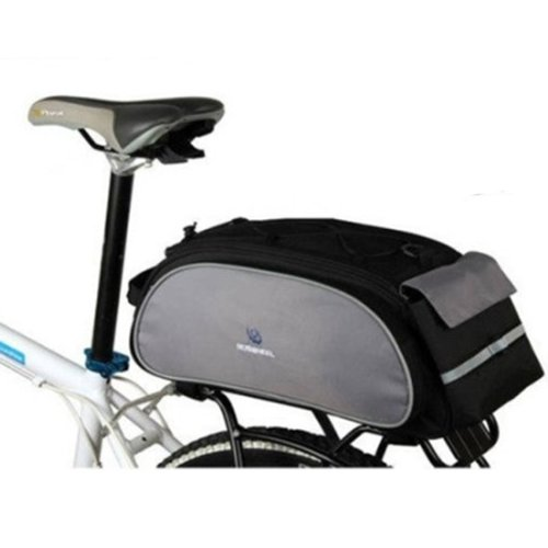 Cycling Bicycle Bag Bike Outdoor Travel Rear Seat Bag Pannier Black 13L