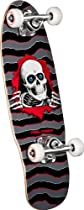 Powell-Peralta Micro Ripper 4 Complete Skateboard, 7.5-Inch, Gray