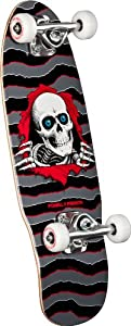 Buy Powell-Peralta Micro Ripper 4 Complete Skateboard, 7.5-Inch, Gray by Powell-Peralta