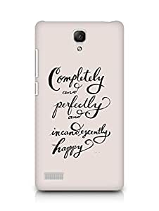 AMEZ completely and perfectly and incandescently happy Back Cover For Xiaomi Redmi Note