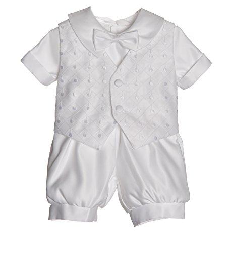 Caldore Boys Christening Dot Embroidery Short Set Size M ( 12M)