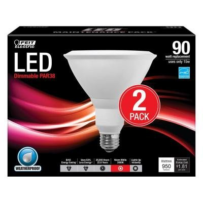 Feit-Electric-90W-Equivalent-Warm-White-PAR38-Dimmable-LED-Light-Bulb-2-Pack