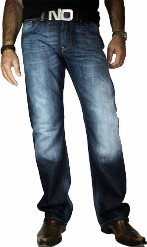 Blend of America Jeans Tornado darkblue Used-Look - 30er, 32er,