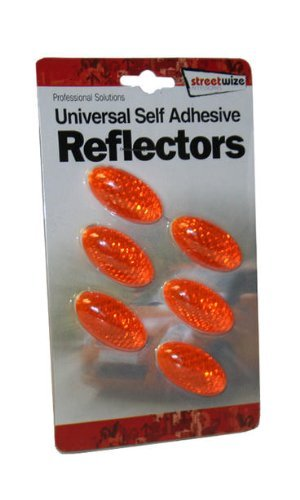 Amber Orange Reflectors 6 Pc Self Adhesive