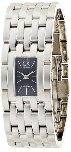 Calvin Klein K8423107 - Reloj analógico de cuarzo para mujer con correa de acero inoxidable, color plateado