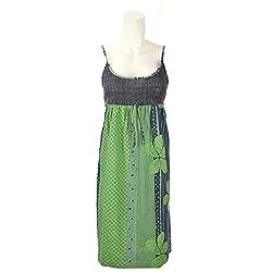 Beautiful Clothes Green Navy Beach Dress Cotton Dress For Women (BCA2062)