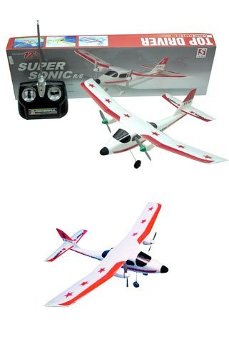 2-Channel RC Super Sonic Radio Control Airplane with Mini Tool Box (fs)
