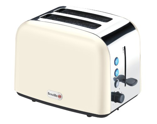 Breville VTT132 Cream Stainless Steel 2 Slice Toaster, 1010 Watts by Breville