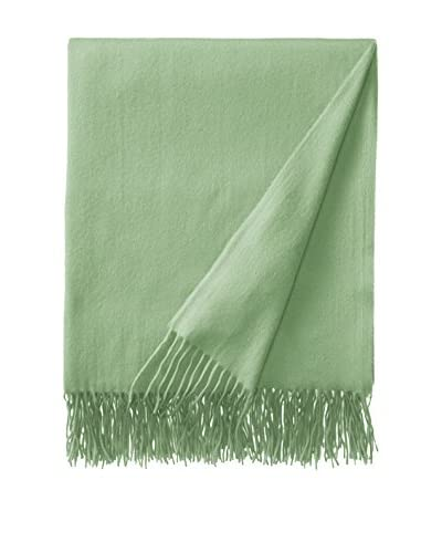 Sofia Cashmere Trentino Throw, Leaf Green