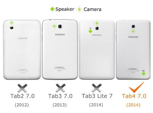 MoKo Etui Samsung GALAXY Tab 4 7.0 - Etui à rabat avec support ultra-mince et léger pour Samsung GALAXY Tab 4 de 7.0 Pouces, NOIR (Ne s'adapte pas à Samsung GALAXY Tab 3 7.0)