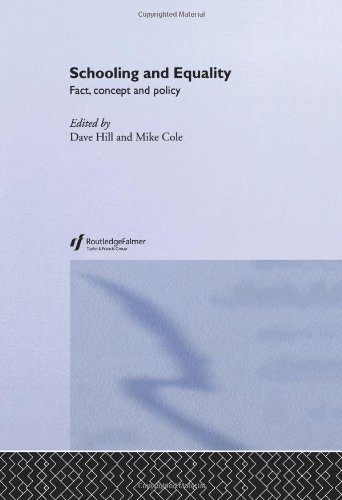 Schooling and Equality: Fact, Concept and Policy (Creating Success)