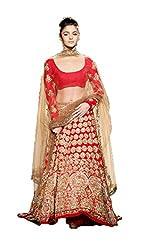 Siya Fashion women's Bangalori Party Wear Unstitched Lengha Choli(si347_Red color)