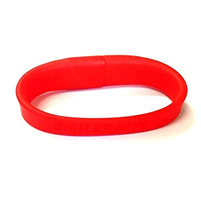 Smiledrive 32GB SUPERFAST USB 3.0 WRISTBAND PEN DRIVE-WEARABLE PENDRVIE (RED)