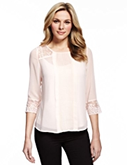 M&S Collection Floral Lace Blouse with Camisole