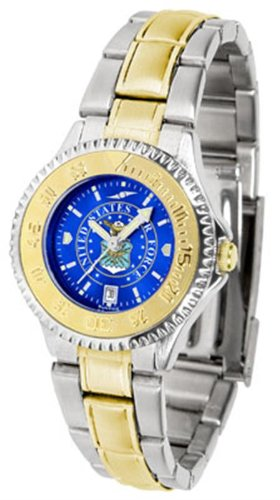 U.S. Air Force MILITARY Womens Two-Tone Anochrome Watch