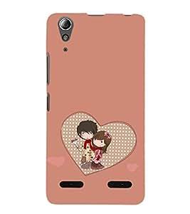 EPICCASE Cute Couple Mobile Back Case Cover For Lenovo A6000 (Designer Case)